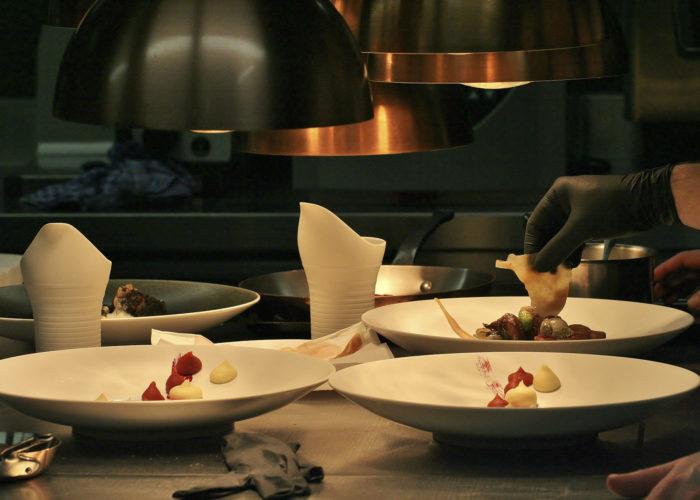 Arbeiten im Gourmetrestaurant
